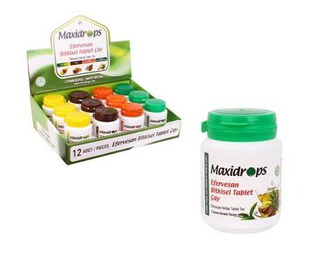 maxidrops efervesan bitkisel form çayı 65 gram